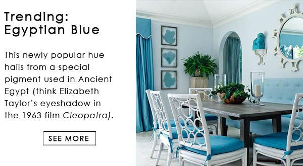 Egyptian Blue Color Trend Interior Decor
