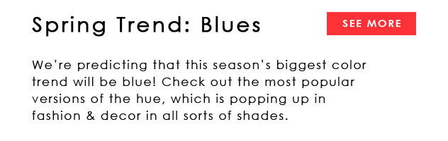 Spring Color Trend Blues hottest color of the season in several shades
