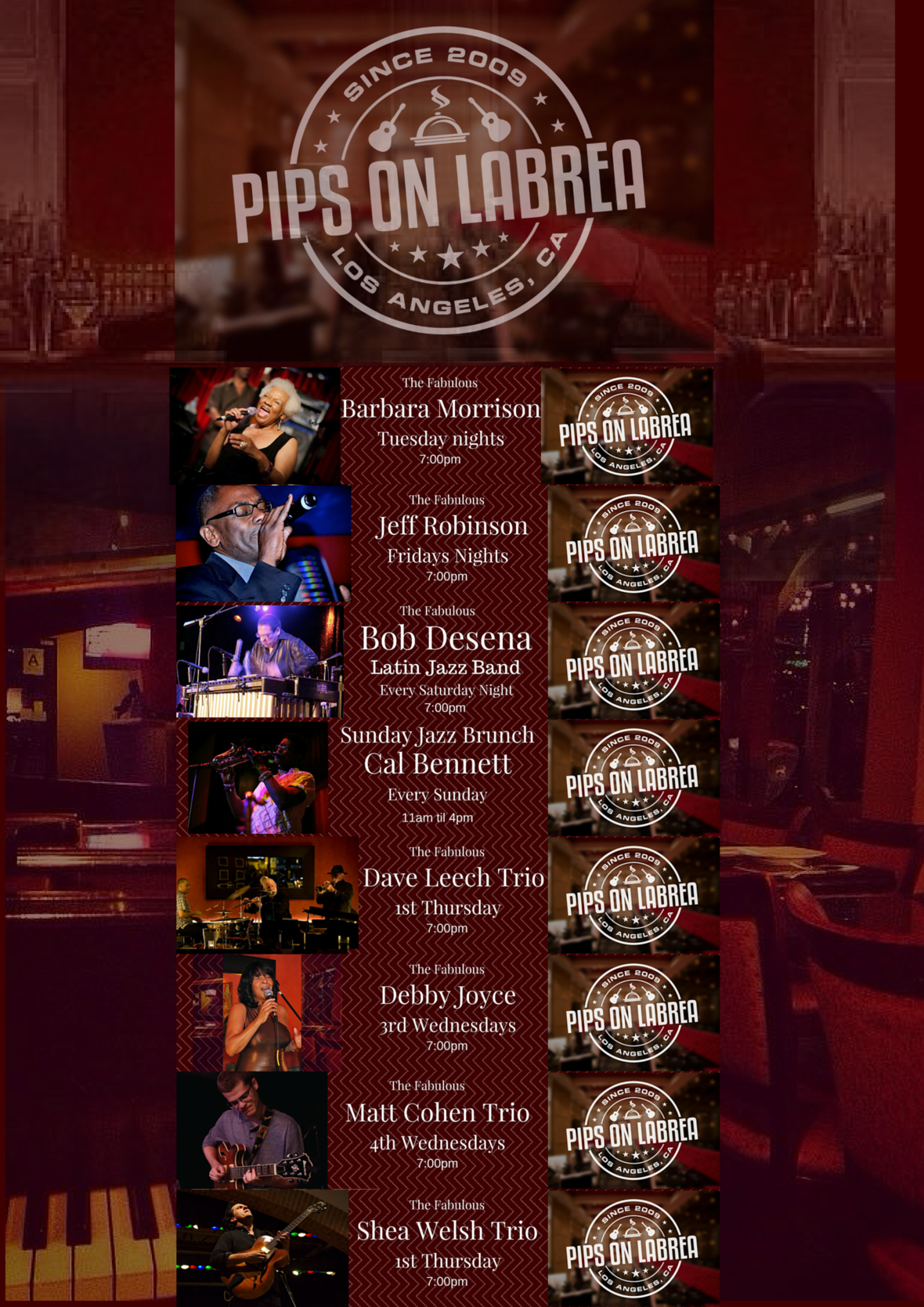 pipsonlabrea livemusic livejazz jazz bluse barbaramorrison brunch 1
