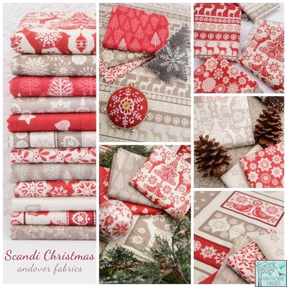 Scandi Christmas Fabric Poster
