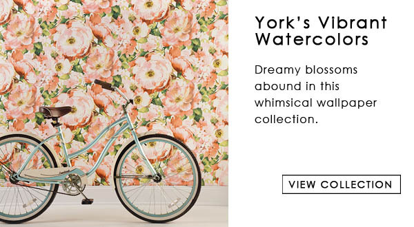 York Watercolor Floral Wallpaper Collection