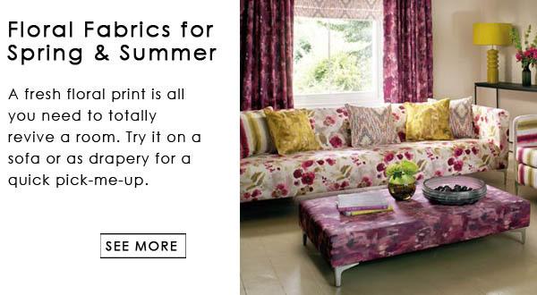 Floral Fabrics Interior Decor Design