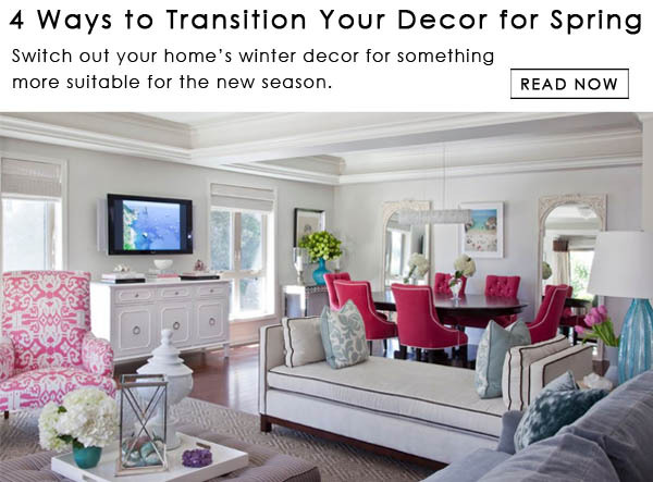 4 ways to transition your decor from winter to spring