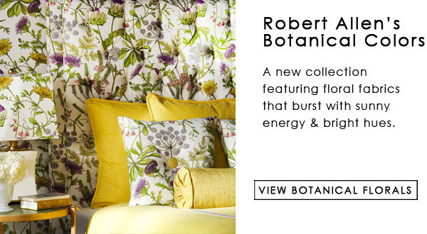 Robert Allen Botanical Color Floral Fabric Collection
