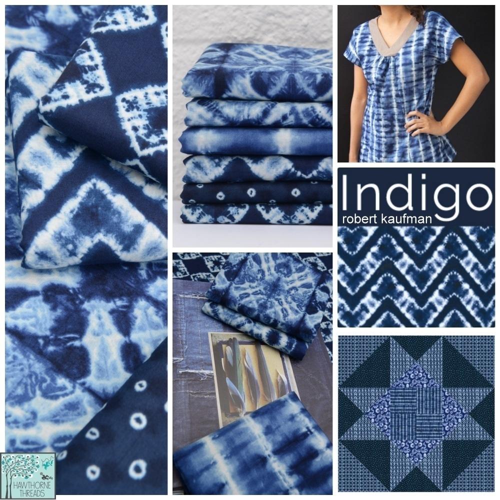 Indigo Fabric Poster