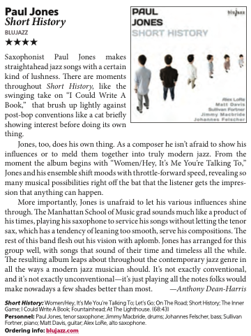 PaulJones-ShortHistory-DownbeatReviewMarch2015