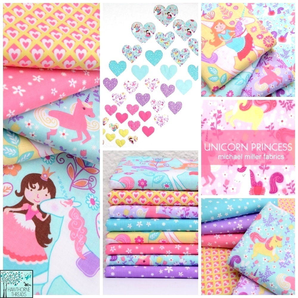 Unicorn Princess Fabric Poster