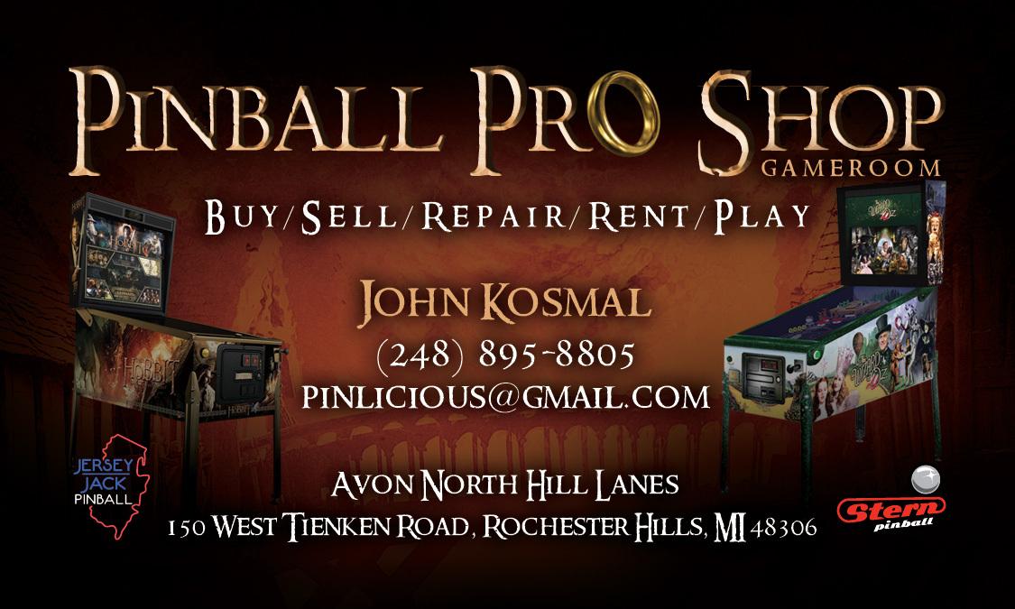 Pinball Pro Shop biz card A
