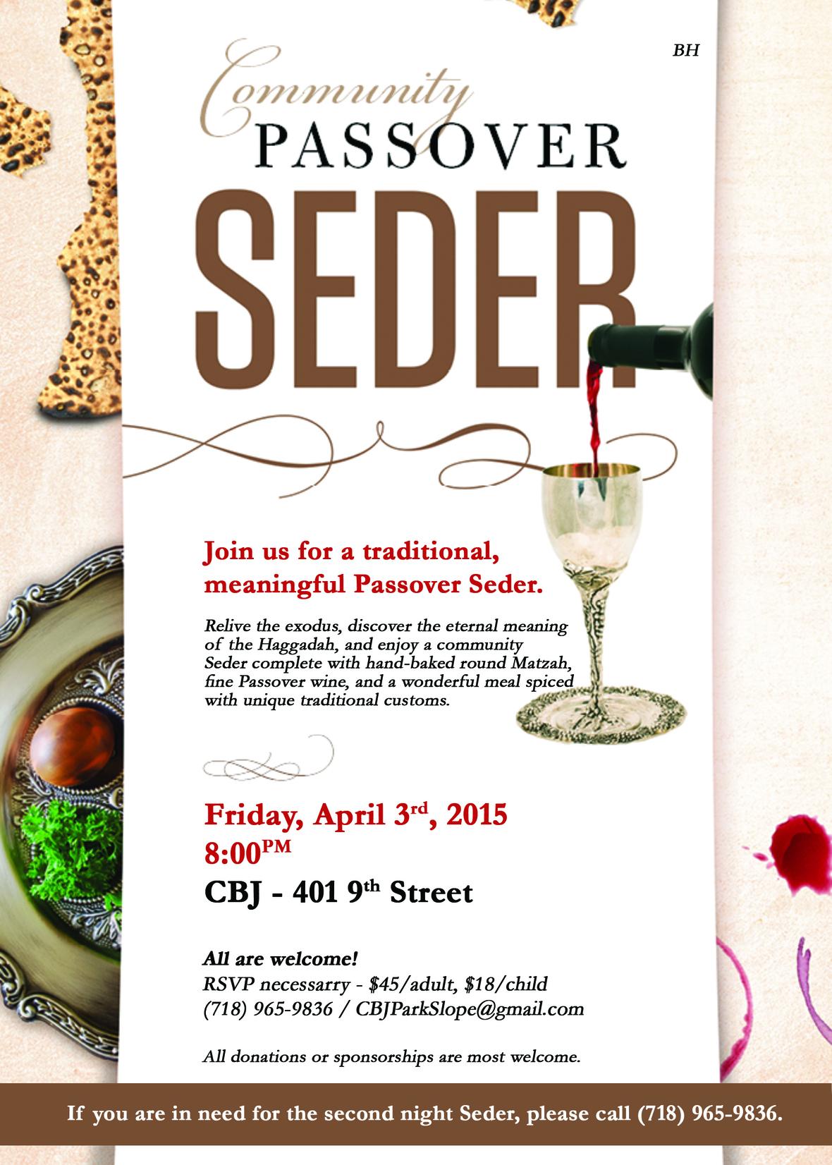 Park Slope Seder 2015