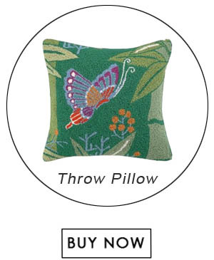 Peking Handicraft Bamboo H.Pillow Half Butterfly Poly Fill