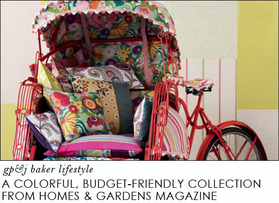 gp j baker lifestyle homes   gardens II colorful fabric collection