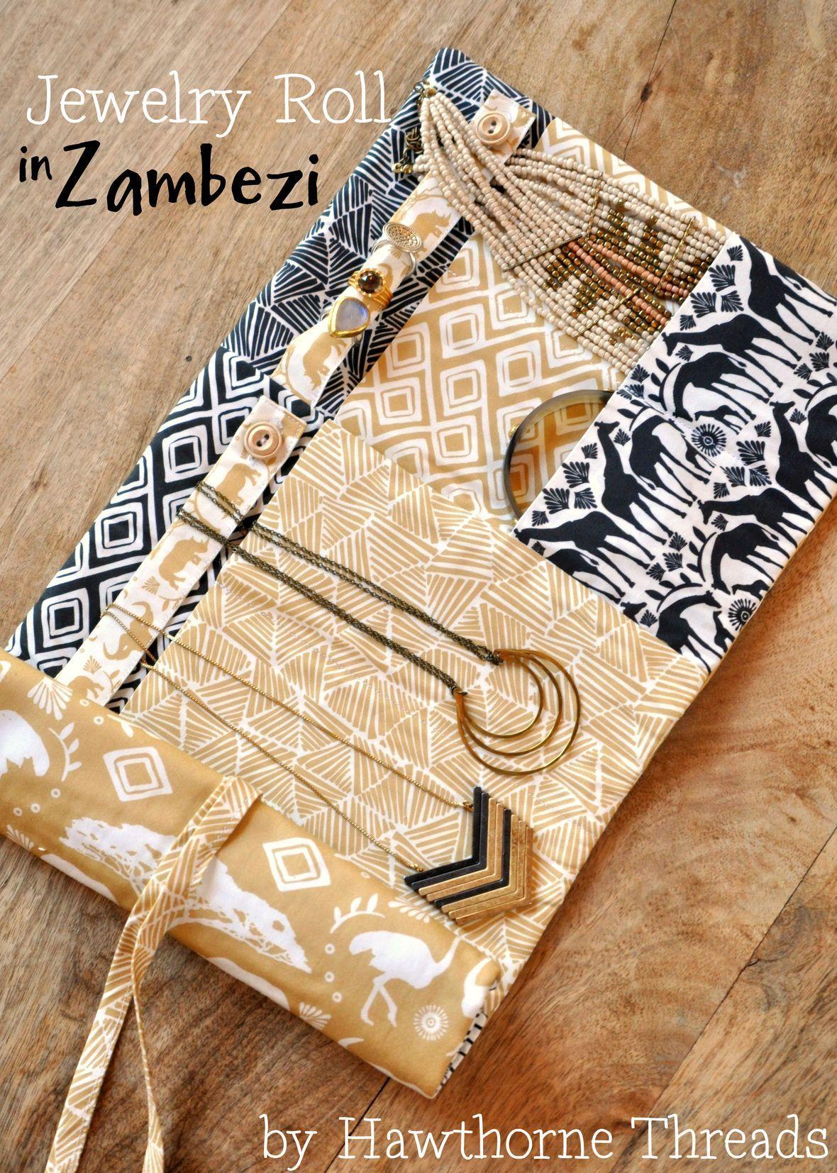 Zambezi Fabric Jewely Roll Hawthorne Threads