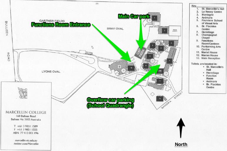 Marcellin School Map