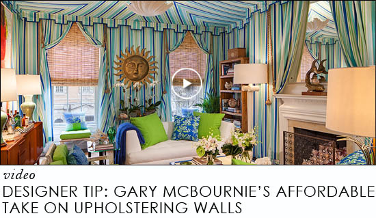designer tip gary mcbournies affordable take on upholstering walls