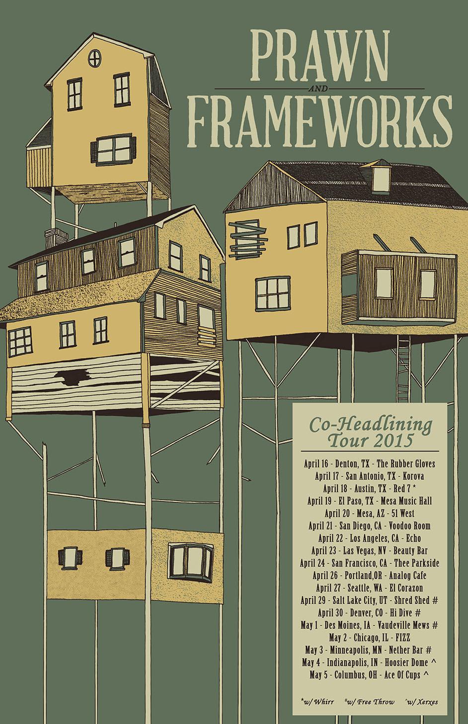prawn frameworks co headline tour