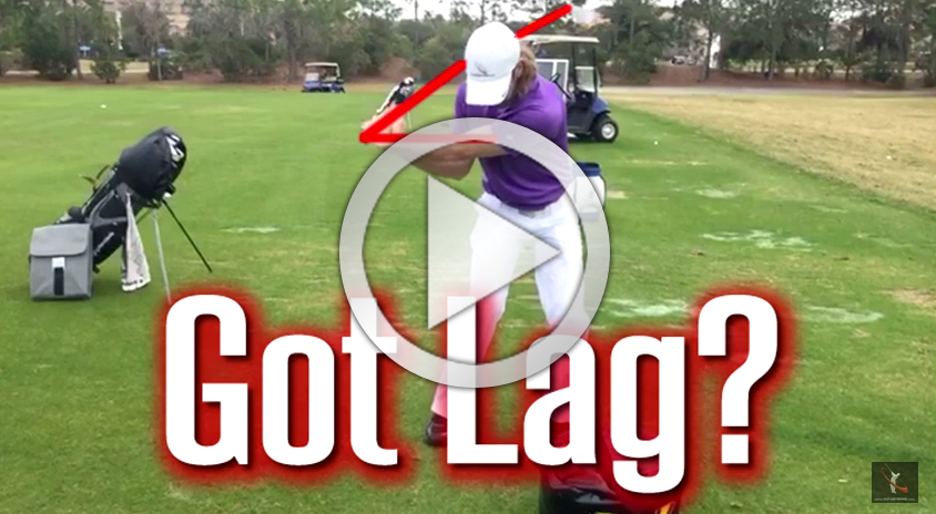 See how easy it is to get tons of lag in the golf swing