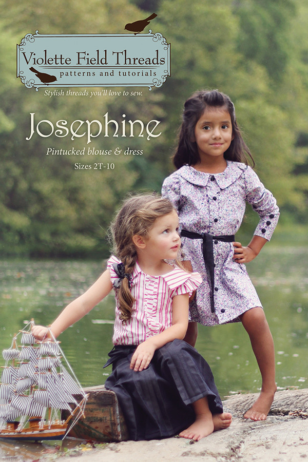 violette field threads josephine blouse and dress sewing pattern