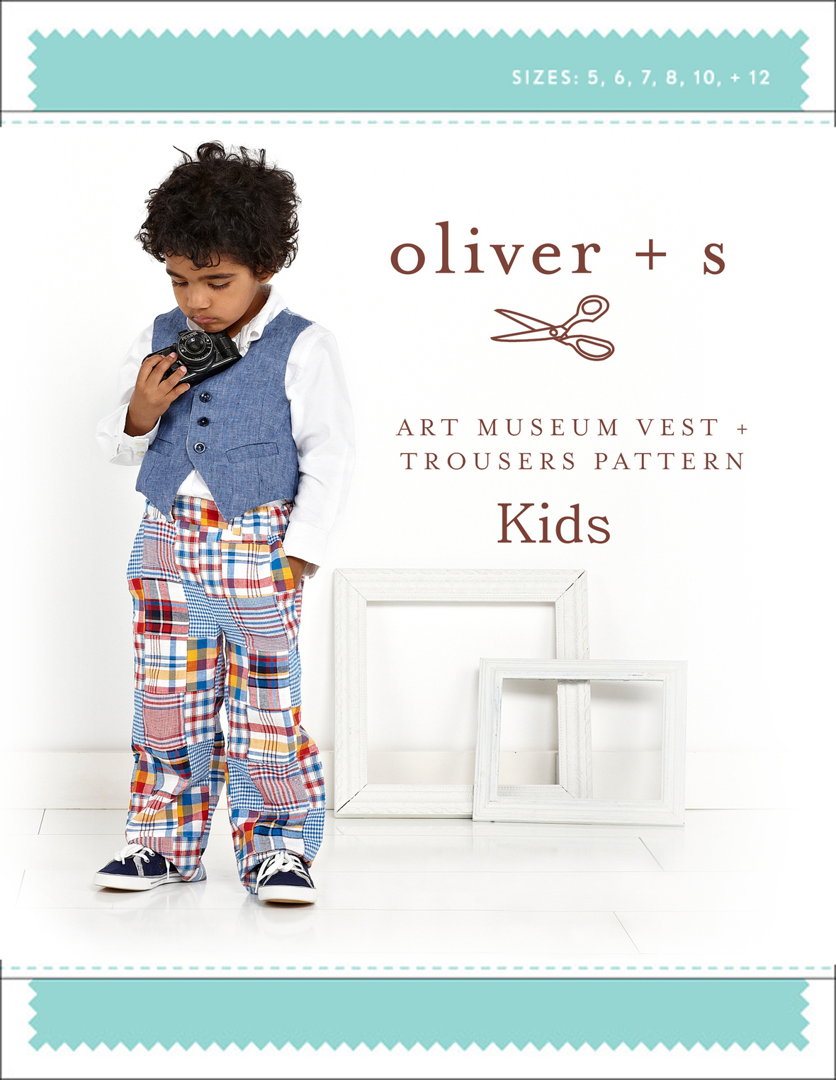 oliver and s  kids art museum vest and trousers sewing pattern