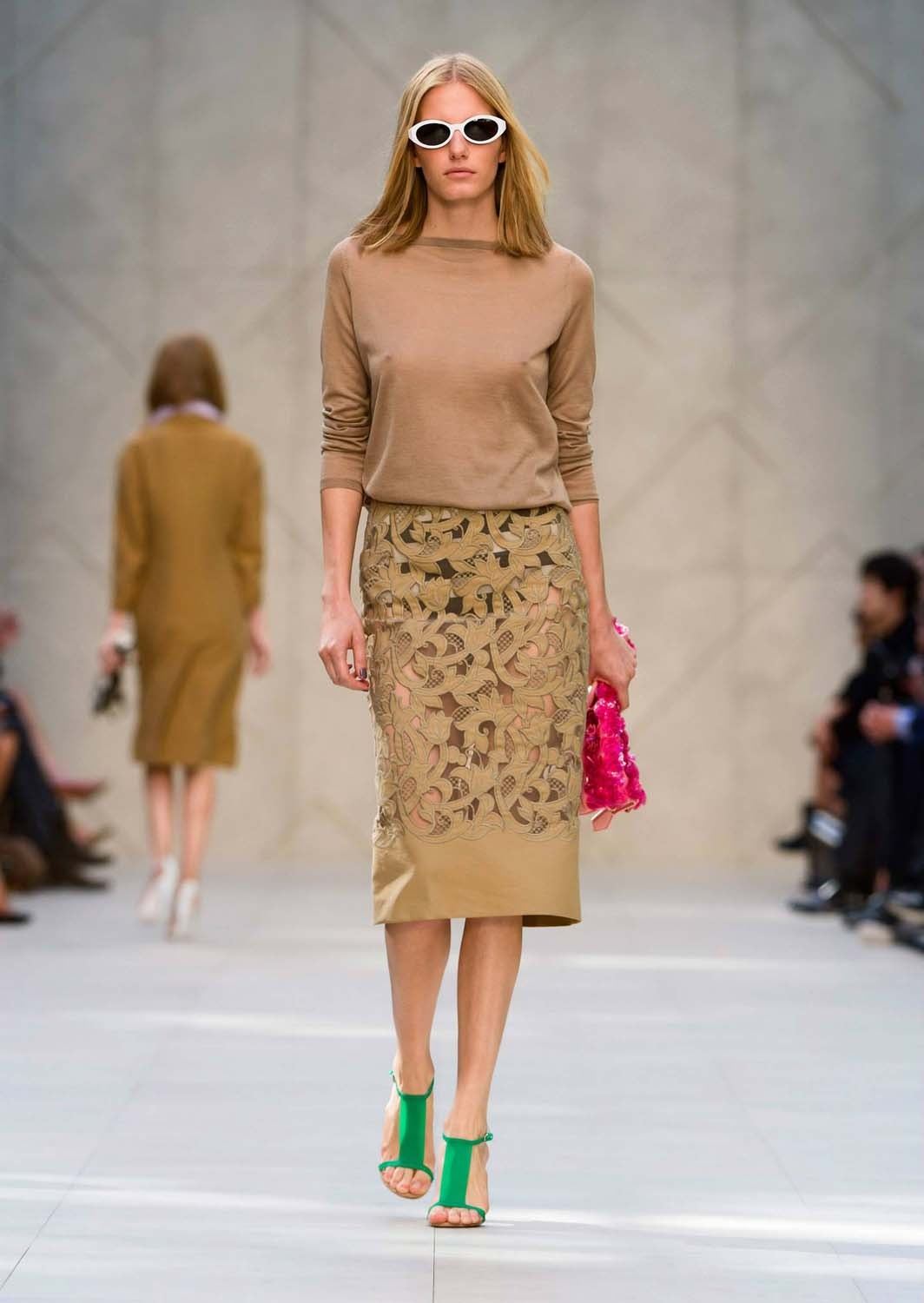 Camel-cashmere-twist-back-sweater-with-embroidered-pencil-skirt