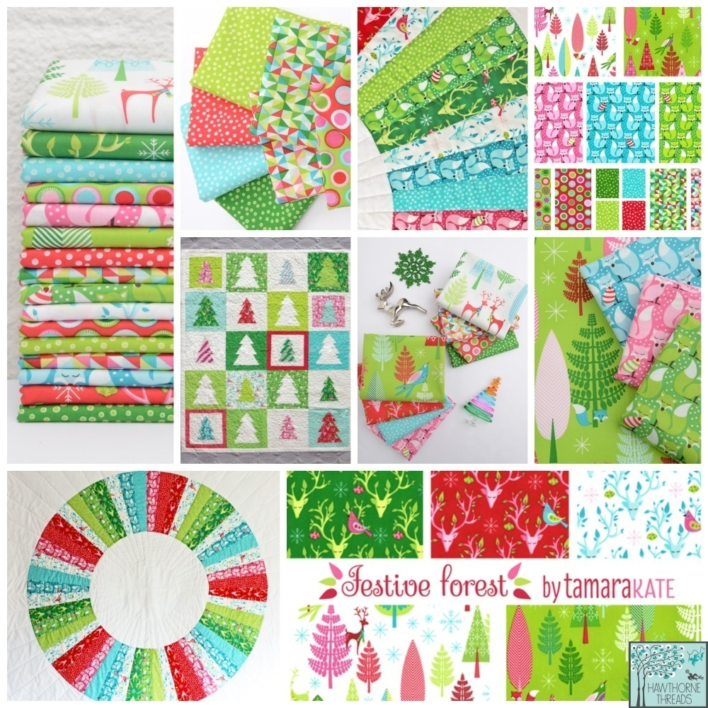 Festive Forest Fabric Poster