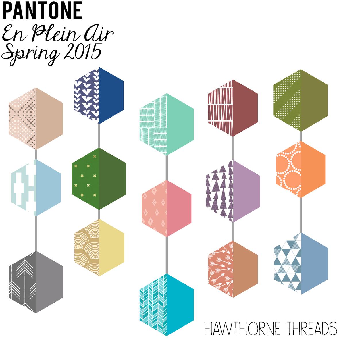 Pantone en Plein Air Fabric Picks