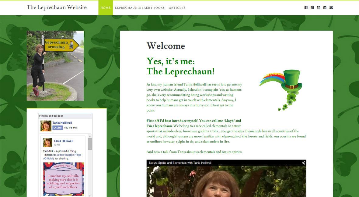leprechaun website screenshot