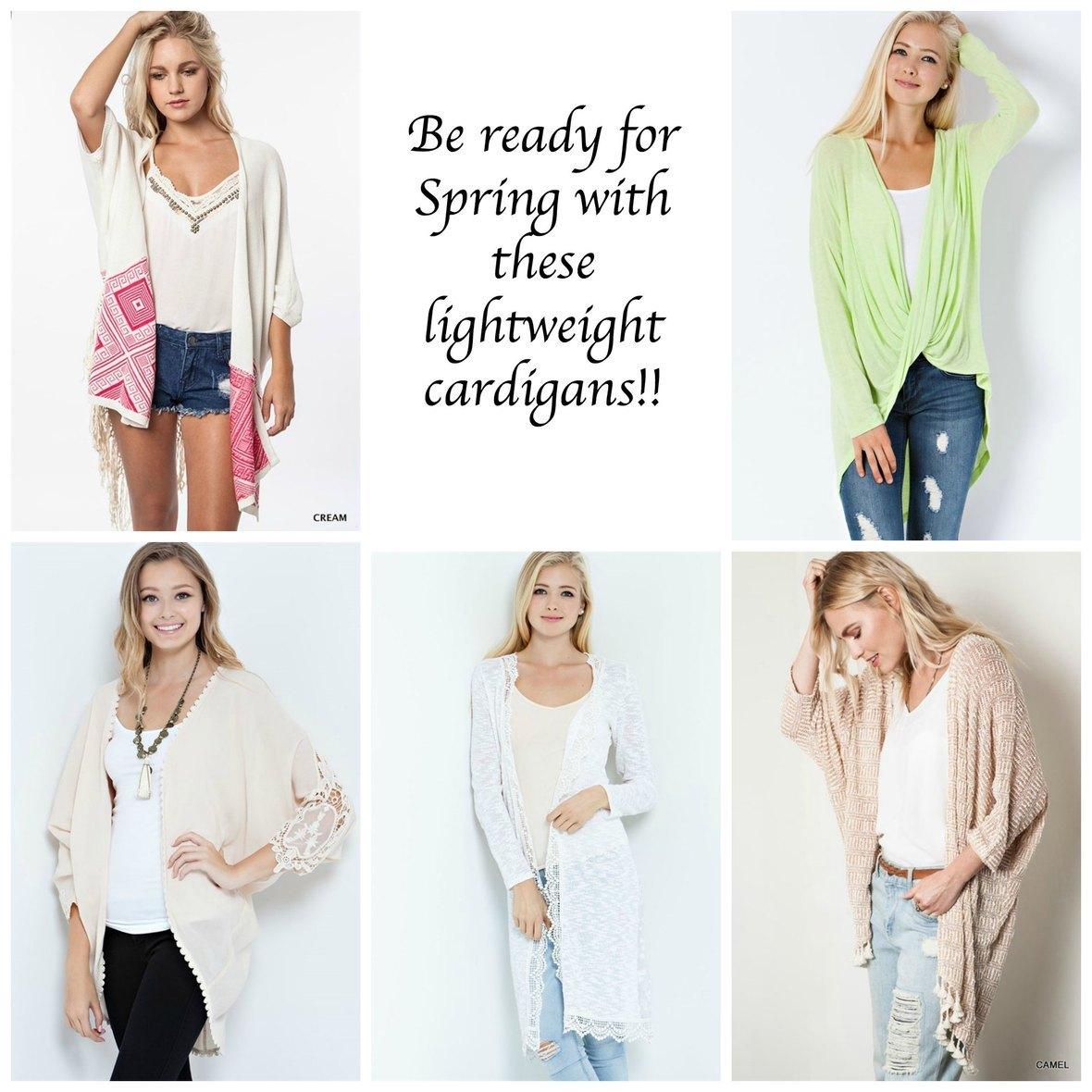 Cute Spring Cardigans!