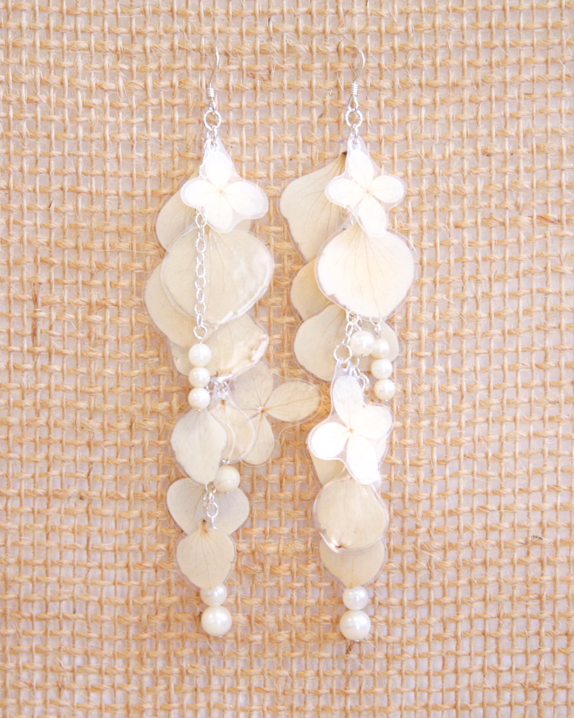 IMPRESSED by nature 3 - hydrangea pearl earrings - matisse