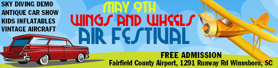 Wings and Wheels banner ad 2015