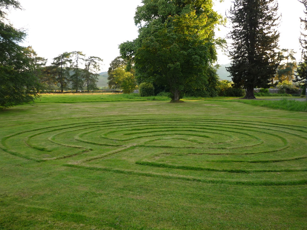 Grass layrinth in Scotland