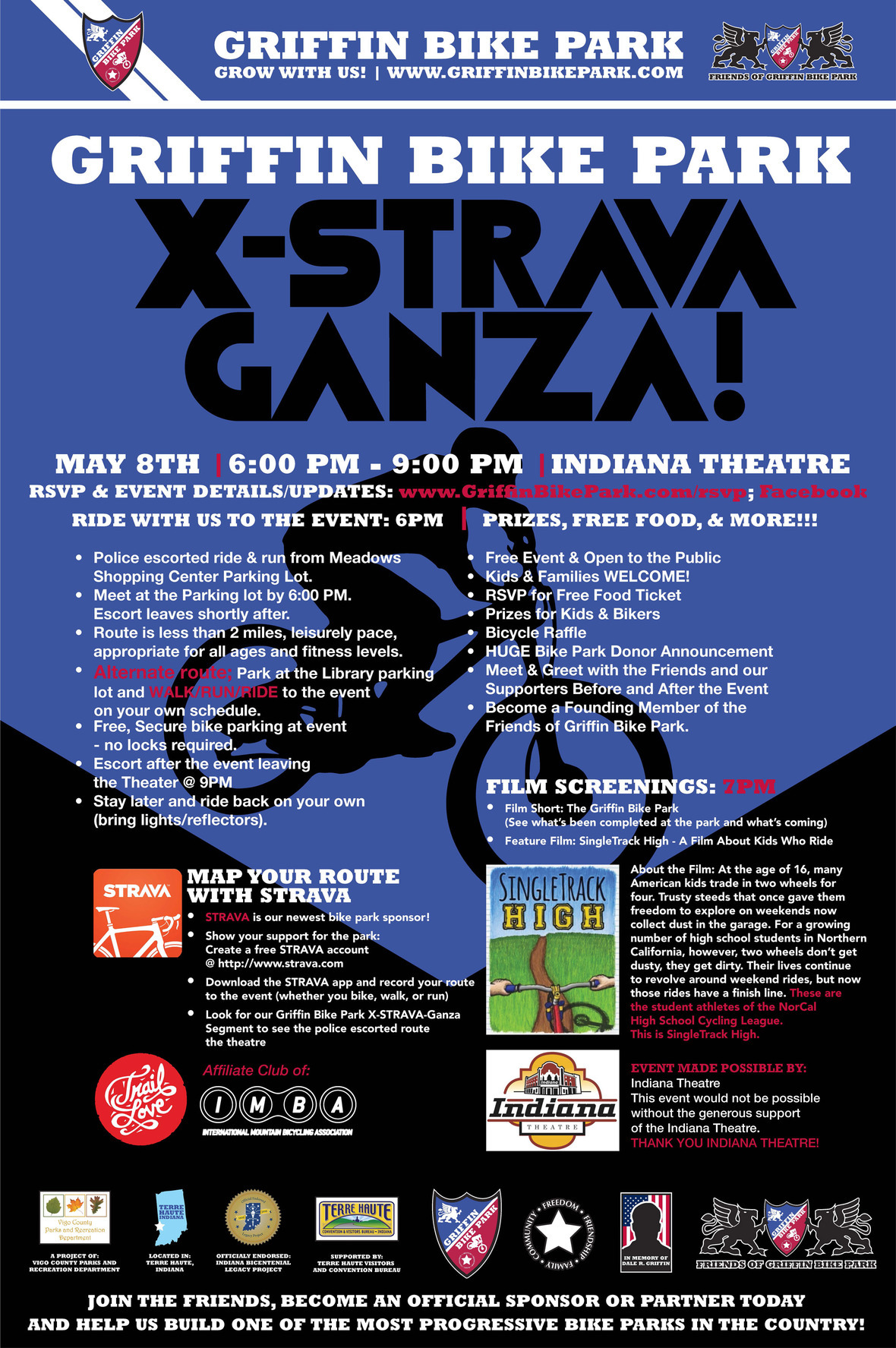 GRIFFIN BIKE PARK X-Strava-Ganza Poster event