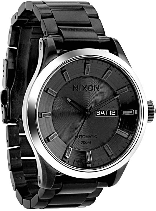 nixon automatic 2 watch all black