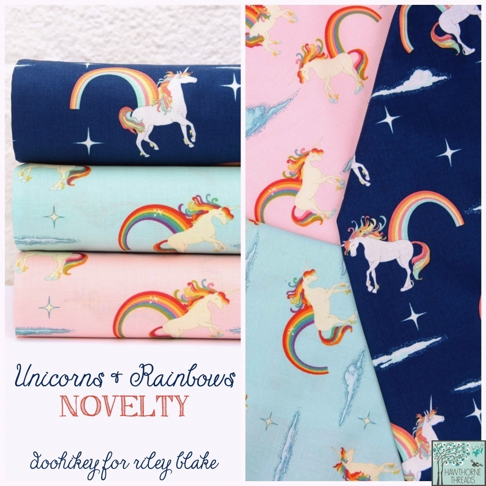 Unicorns and Rainbows Fabric Canvas