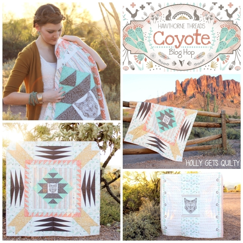 Coyote Fabric Blog Hop Holly Gets Quilty