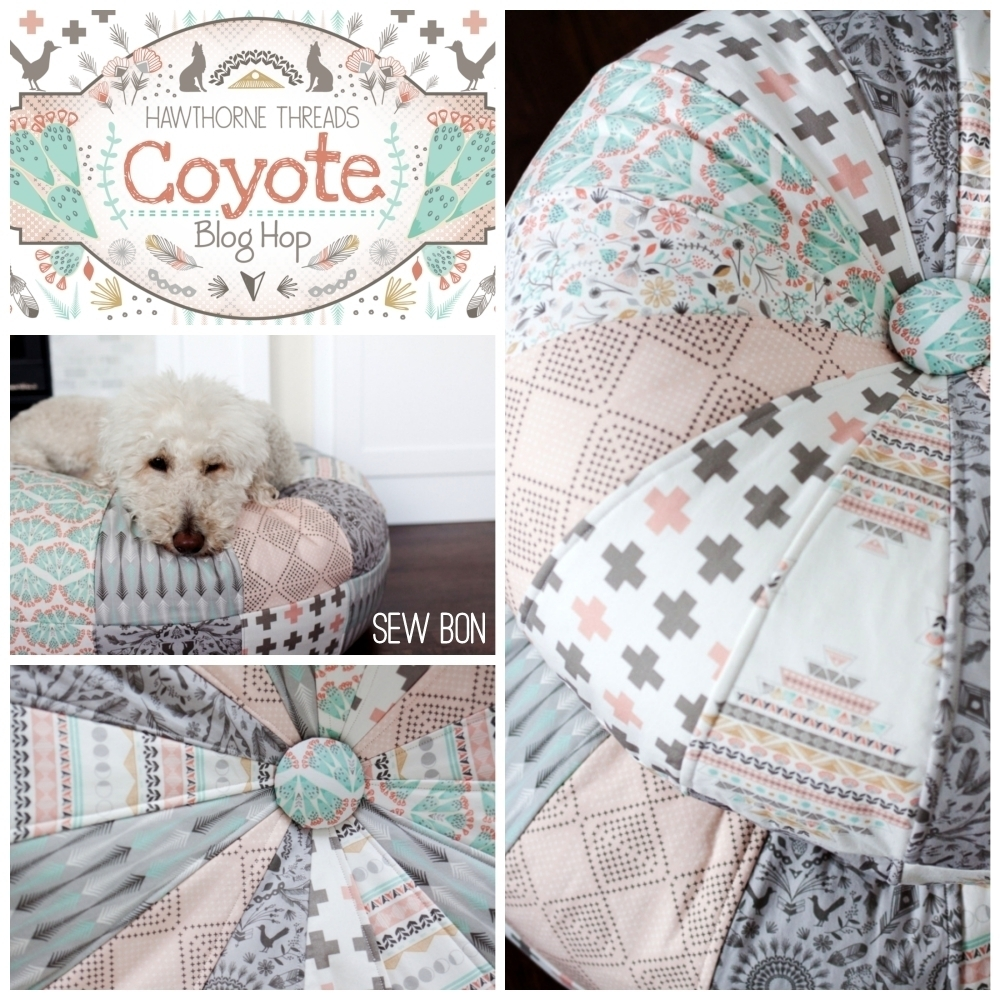 Coyote Fabric Blog Hop Sew Bon Poufs