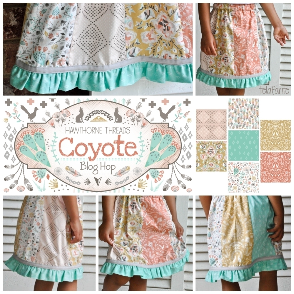 Telafante Coyote Fabric Blog Hop