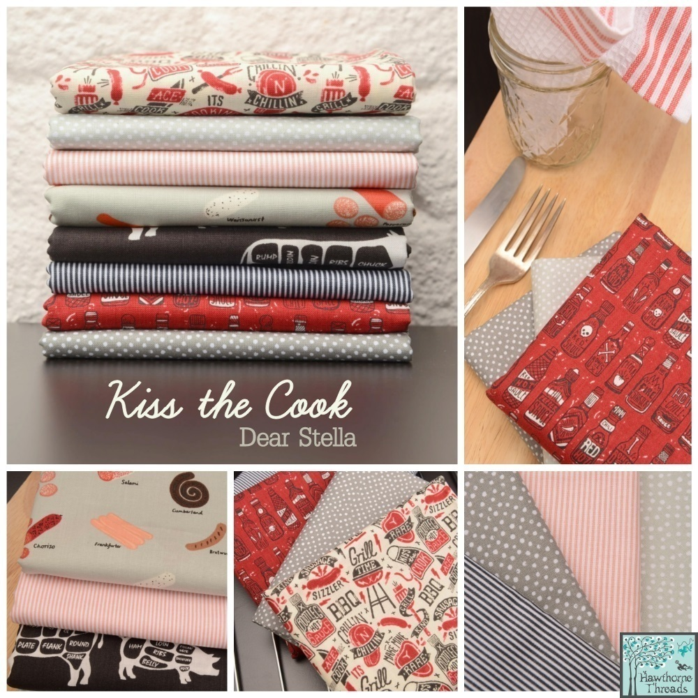 Kiss the Cook Fabric Dear Stella