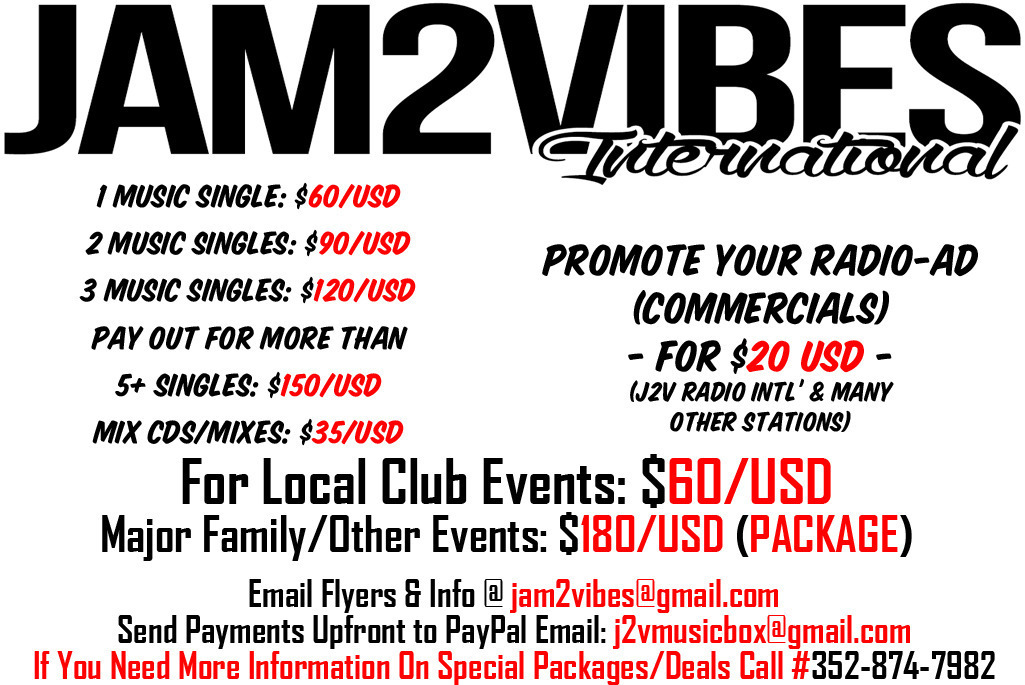 Promo Your New 2015 Cropover / Vincy / Soca Riddims / Any Genre of