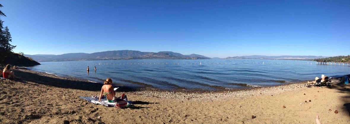 Beach at Bertrum Park Kelowna BC