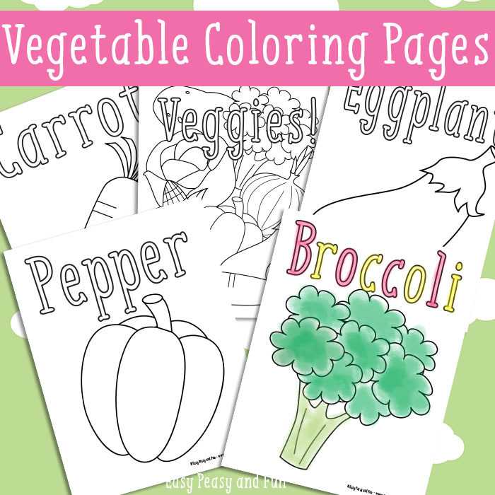 Vegetables Coloring Pages 1