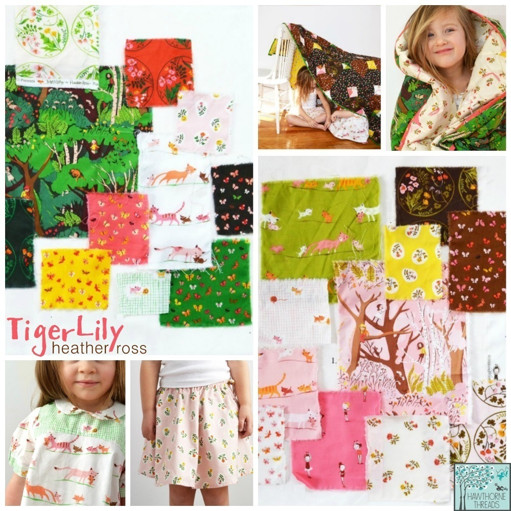 Heather Ross Tiger Lily Fabric Poster