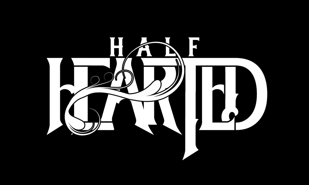 Half Hearted Logo White