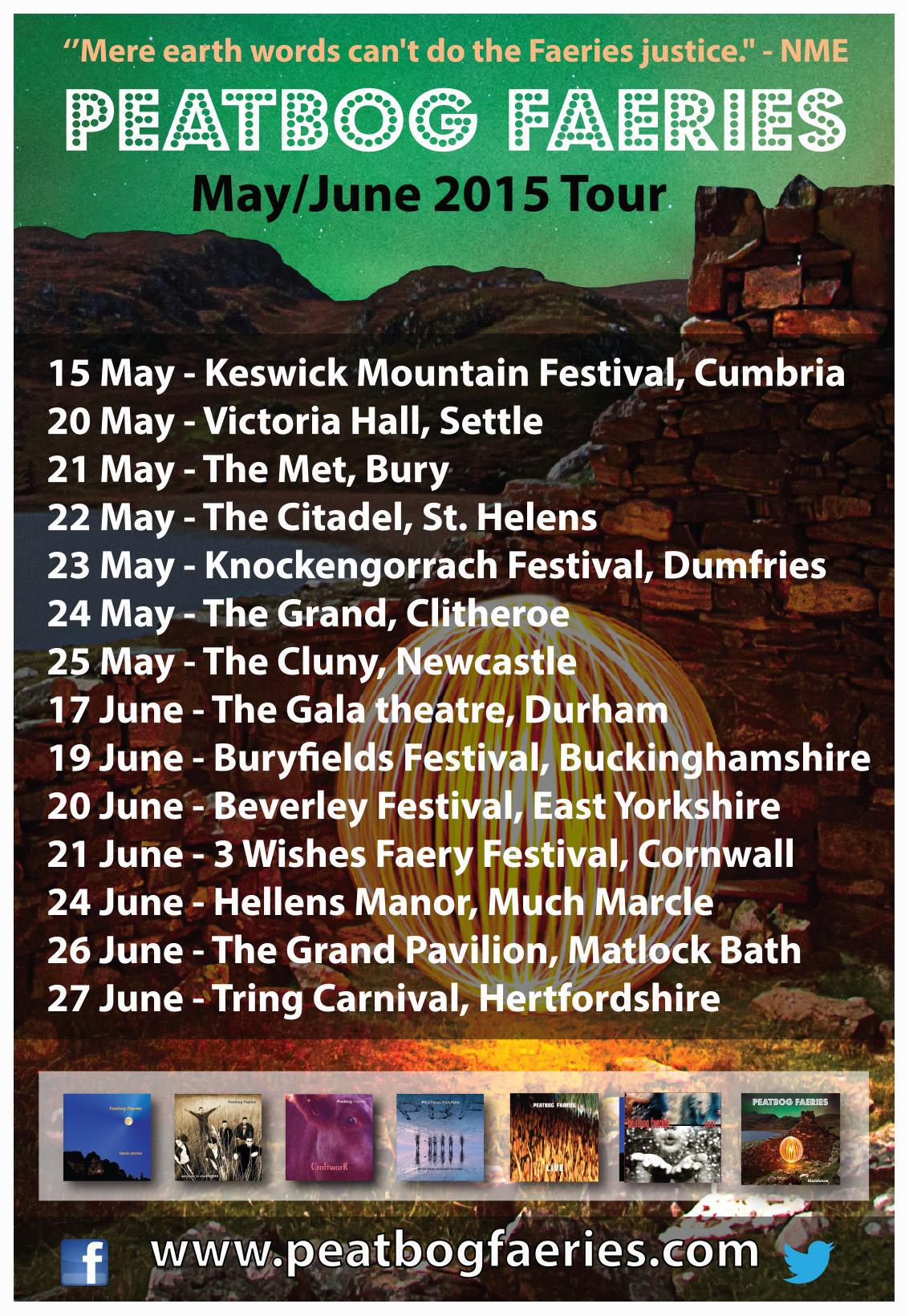 Peatbog 2015 tour ad
