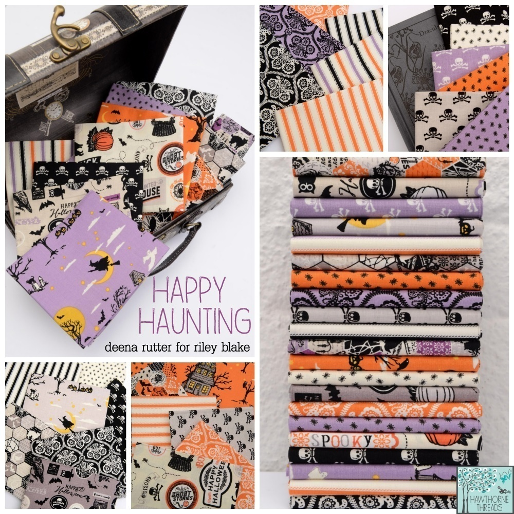 Happy Haunting Fabric poster