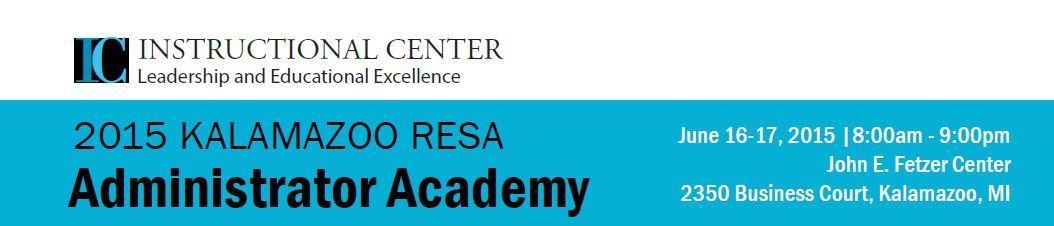 Administrator Academy 2015 Header