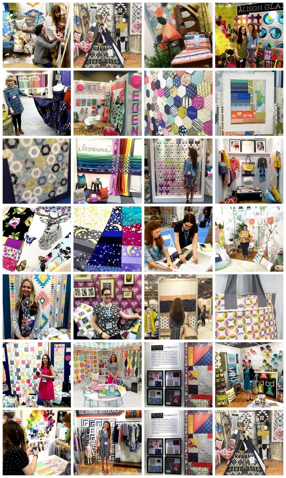 Scenes from Quilt Maket with Hawthorne Threads