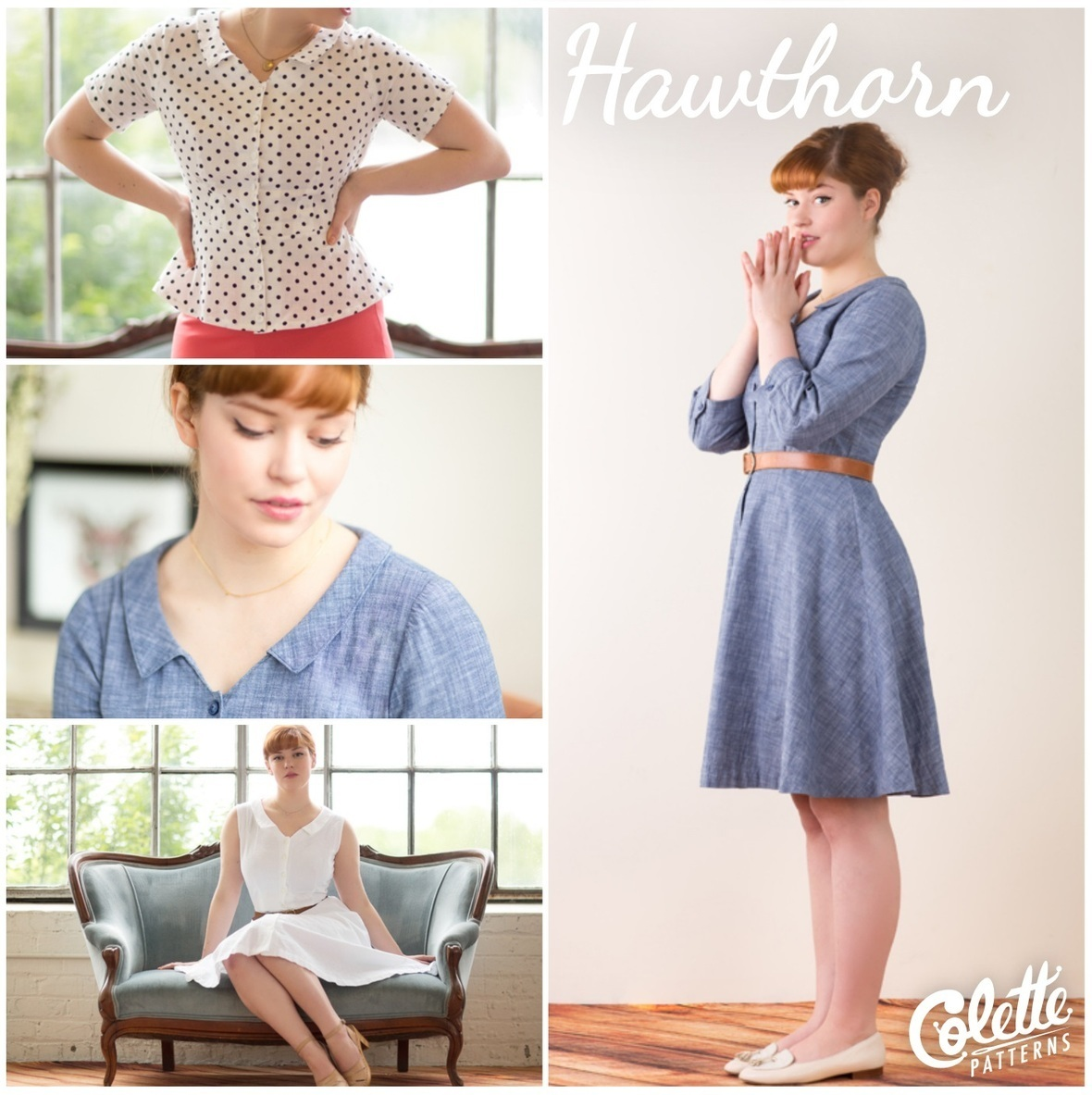 colette patterns hawthorn dress and blouse sewing pattern