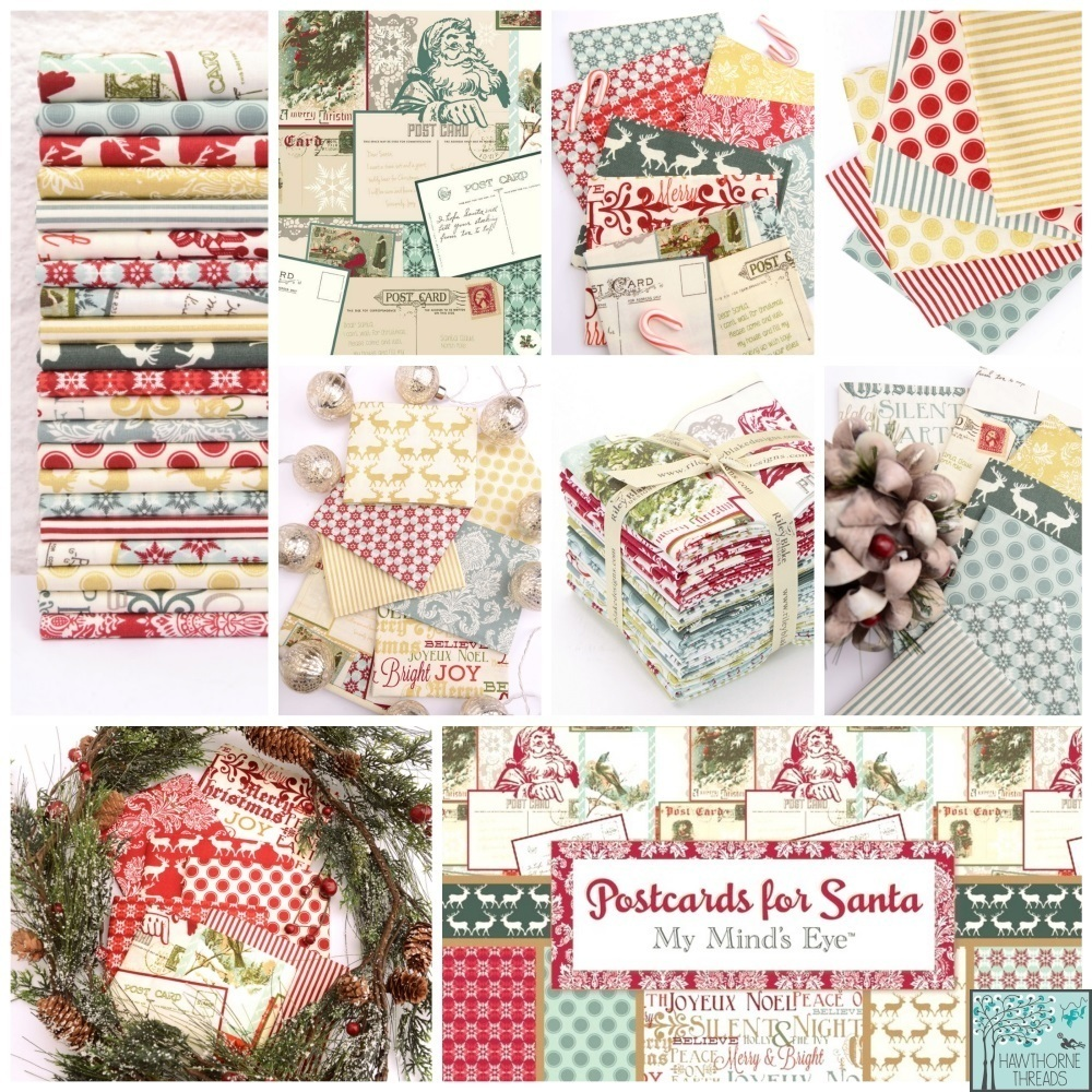 Postcards for Santa Fabric Poster