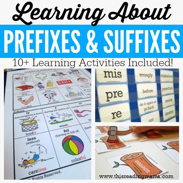 Prefixes, Suffixes and Other Resources for Longer Words