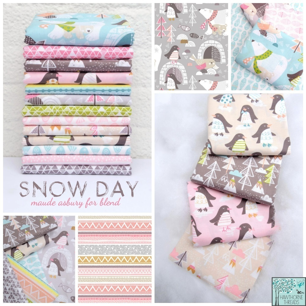 Snow Day Fabric Poster